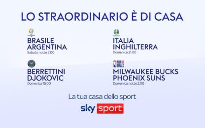 Berrettini&Italia: su Sky la domenica delle finali
