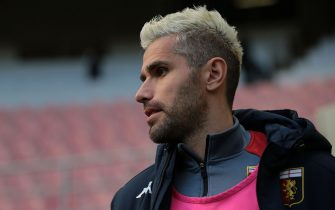 Valon Behrami of Genoa CFC during the Serie A match at Giuseppe Meazza, Milan. Picture date: 28th February 2021. Picture credit should read: Jonathan Moscrop/Sportimage via PA Images
