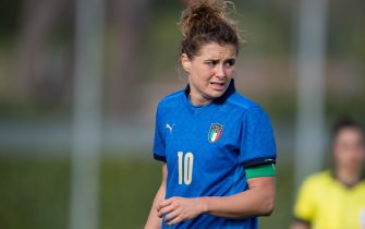 Florence, Italy, 13.04.21 Cristiana Girelli (#10 Italy) during friendly match between Italy and Iceland at Enzo Bearzot Stadium in Coverciano Florence, Italy  (Photo by Cristiano Mazzi / SPP/Sipa USA)