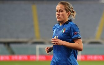 FLORENCE, ITALY - FEBRUARY 24: Valentina Cernoia of Italy in action on the field during the UEFA Women's EURO 2022 Qualifier match between Italy and Israel at Stadio Artemio Franchi on February 24, 2021 in Florence, Italy. (Photo by Sara Cavallini/Getty Images)