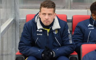 CREMONA, ITALY - JANUARY 20:  Marcello Gazzola of Parma Calcio looks on before the serie B match between US Cremonese and Parma FC at Stadio Giovanni Zini on January 20, 2018 in Cremona, Italy.  (Photo by Alessandro Sabattini/Getty Images)