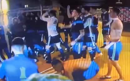 Atletico Mineiro-Boca, mega rissa a fine partita