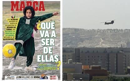 La prima pagina di Marca per le donne afgane