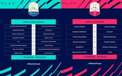 Calcio a 5,  i calendari della nuova stagione
