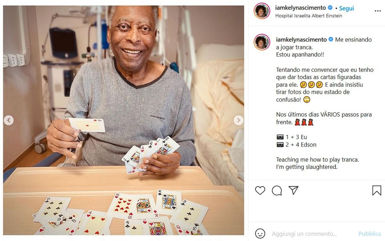 Il post su Instagram della figlia di Pelé