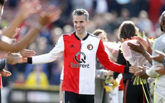 Robin van Persie of Feyenoord during the Dutch Eredivisie match between Feyenoord Rotterdam and ADO Den Haag at the Kuip on May 12, 2019 in Rotterdam, The Netherlands(Photo by VI Images via Getty Images)