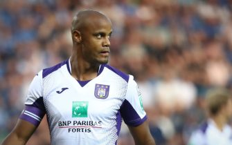 Anderlecht's Vincent Kompany pictured during a soccer match between KRC Genk and RSC Anderlecht, Friday 23 August 2019 in Genk, on the fifth day of the 'Jupiler Pro League' Belgian soccer championship season 2019-2020. BELGA PHOTO VIRGINIE LEFOUR        (Photo credit should read VIRGINIE LEFOUR/AFP/Getty Images)