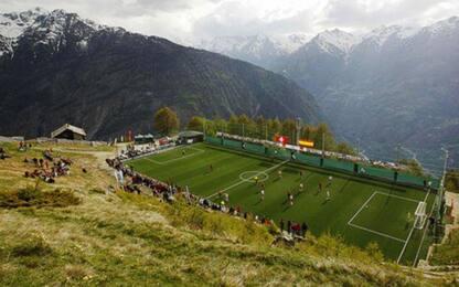 Il campo più alto d'Europa? A 2000 m in Svizzera!