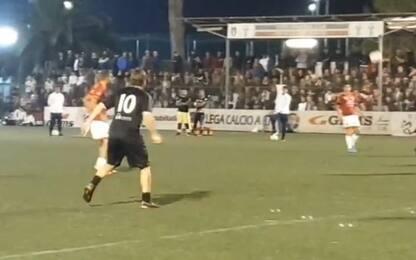 Totti, tripletta alla Roma (calcio a 8). VIDEO
