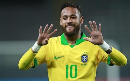 Neymar supera Ronaldo: i top bomber del Brasile