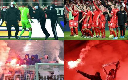 Nel derby di Berlino è successo di tutto. FOTO