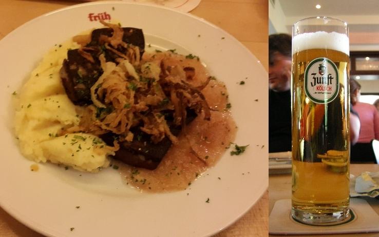 Il piatto e la birra tipici di Colonia