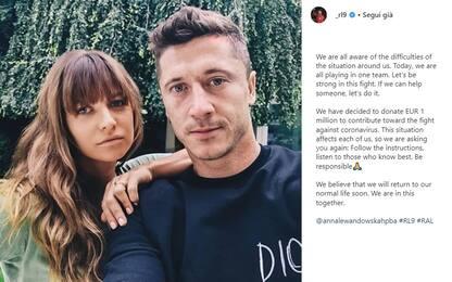Coronavirus, Lewandowski dona un milione di euro
