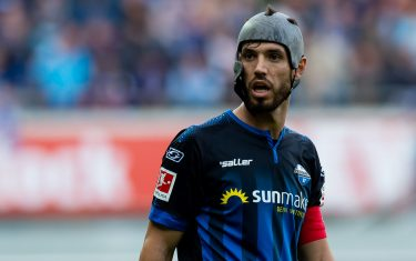PADERBORN, GERMANY - OCTOBER 26: Klaus Gjasula of Paderborn looks on during the Bundesliga match between SC Paderborn 07 and Fortuna Duesseldorf at Benteler Arena on October 26, 2019 in Paderborn, Germany. (Photo by TF-Images/Getty Images)