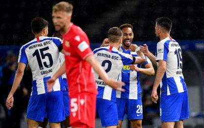 Derby di Berlino all'Hertha: Union travolta 4-0