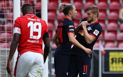 Super Werner, il Lipsia travolge il Mainz 5-0