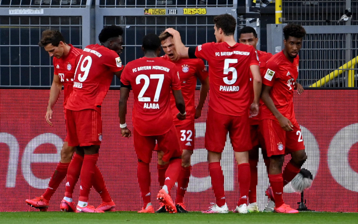 Borussia Dortmund Bayern Monaco, gol e highlights: decide Kimmich ...