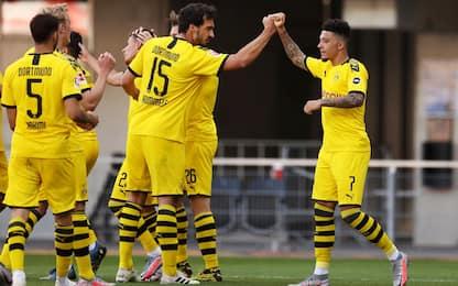 Sancho ne fa 3, goleada Dortmund: Paderborn ko 6-1