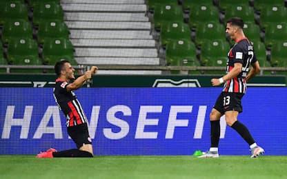 Eintracht, 3-0 al Werder: André Silva segna ancora