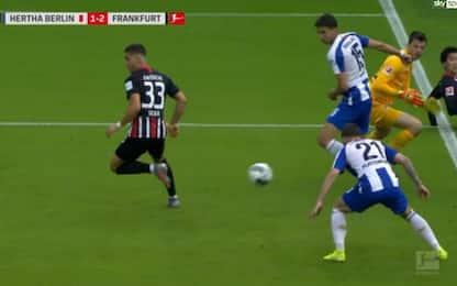 André Silva, gol di tacco e doppietta. VIDEO