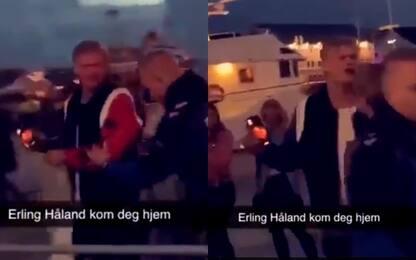 Haaland cacciato da un locale in Norvegia. VIDEO