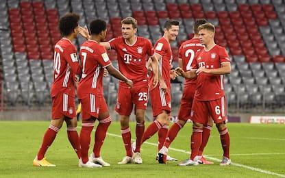 Il Bayern riparte con una goleada: Schalke ko 8-0