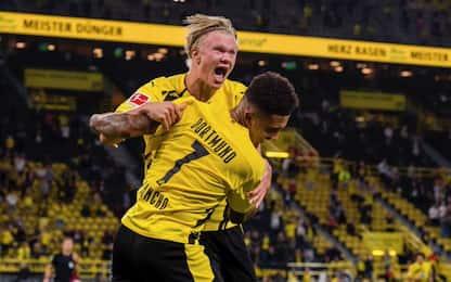 Il Dortmund ricomincia da 3, doppietta per Haaland