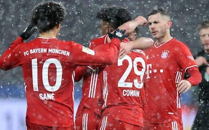 Bayern, sotto la neve basta Coman: fuga a +10