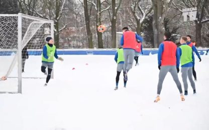 Hertha sotto la neve, in partitella vale tutto!