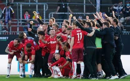 Il Colonia rimane in Bundesliga: Kiel travolto 5-1