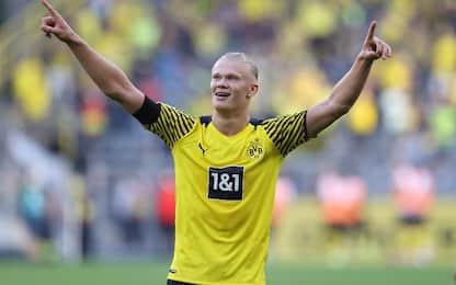 BVB a valanga sull'Eintracht: doppietta Haaland