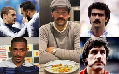 Alisson cambia look: i baffi più famosi del calcio
