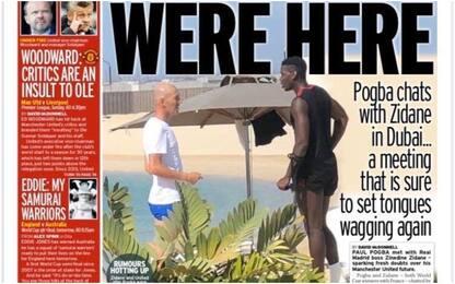 Incontro segreto, Zidane e Pogba flirtano a Dubai