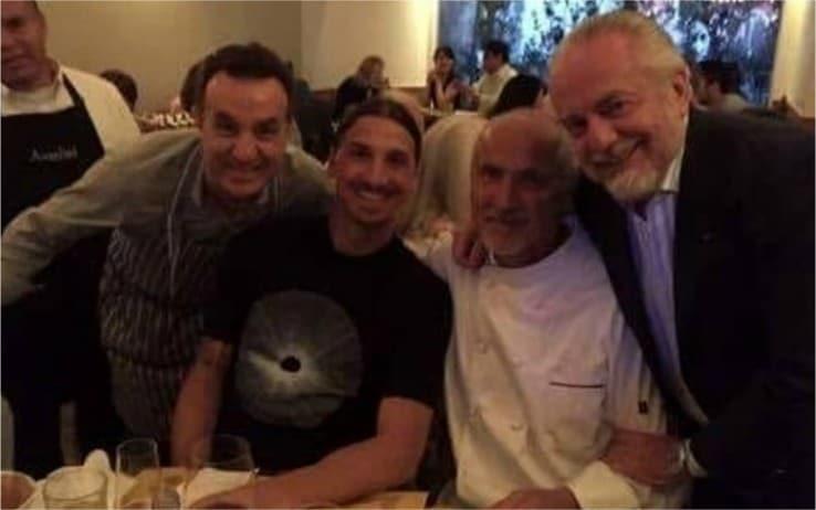 Ibrahimovic e De Laurentiis in un ristorante di Los Angeles