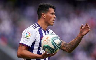 VALLADOLID, SPAIN - SEPTEMBER 15: Pedro Porro of Valladoid CF in action during the Liga match between Real Valladolid CF and CA Osasuna at Jose Zorrilla on September 15, 2019 in Valladolid, Spain. (Photo by Quality Sport Images/Getty Images)