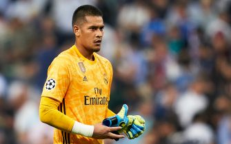 MADRID, SPAIN - OCTOBER 01: Alphonse Areola of Real Madrid reacts after the UEFA Champions League group A match between Real Madrid and Club Brugge KV at Bernabeu on October 01, 2019 in Madrid, Spain. (Photo by Quality Sport Images/Getty Images)
