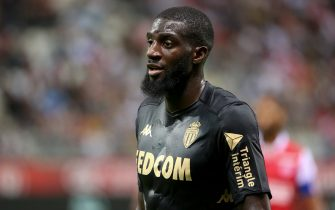 REIMS, FRANCE - SEPTEMBER 21: Tiemoue Bakayoko of Monaco during the Ligue 1 match between Stade de Reims and AS Monaco at Stade Auguste Delaune on September 21, 2019 in Reims, France. (Photo by Jean Catuffe/Getty Images)