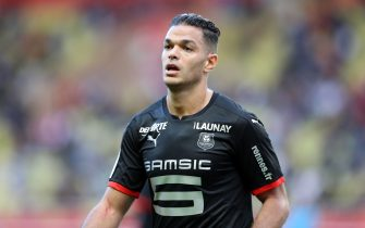 "Rennes Hatem Ben Arfa looks on during the French L1 football match between Monaco and Rennes at the ""Louis II Stadium"" in Monaco on October 7, 2018. (Photo by VALERY HACHE / AFP)        (Photo credit should read VALERY HACHE/AFP via Getty Images)"