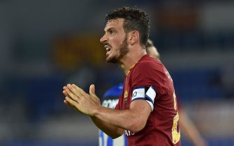 ROME, ITALY - SEPTEMBER 25:  Alessandro Florenzi of AS Roma during the Serie A match between AS Roma and Atalanta BC at Stadio Olimpico on September 25, 2019 in Rome, Italy.  (Photo by Giuseppe Bellini/Getty Images)