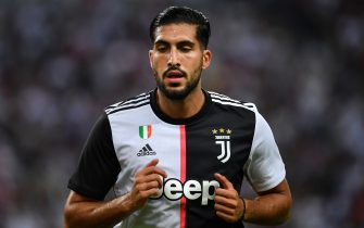 SINGAPORE, SINGAPORE - JULY 21: Emre Can of Juventus in action during the International Champions Cup match between Juventus and Tottenham Hotspur at the Singapore National Stadium on July 21, 2019 in Singapore. (Photo by Thananuwat Srirasant/Getty Images)
