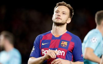BARCELONA, SPAIN - NOVEMBER 5: Ivan Rakitic of FC Barcelona  during the UEFA Champions League  match between FC Barcelona v Slavia Prague at the Camp Nou on November 5, 2019 in Barcelona Spain (Photo by Jeroen Meuwsen/Soccrates/Getty Images)