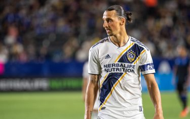 CARSON, CA - JULY 12: Zlatan Ibrahimovic #9 of Los Angeles Galaxy during the Los Angeles Galaxy's MLS match against San Jose Earthquakes at the Dignity Health Sports Park on July 12, 2019 in Carson, California. San Jose won the match 3-1 (Photo by Shaun Clark/Getty Images)