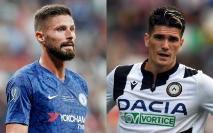 Inter, incontro per Giroud. Pressing su De Paul