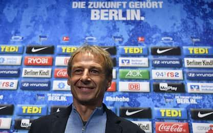 Klinsmann torna ad allenare: riparte dall'Hertha