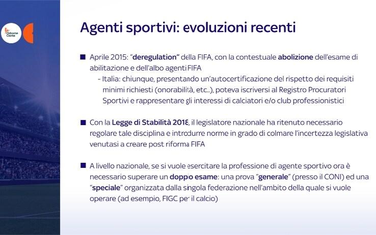 Agenti sportivi evoluzione