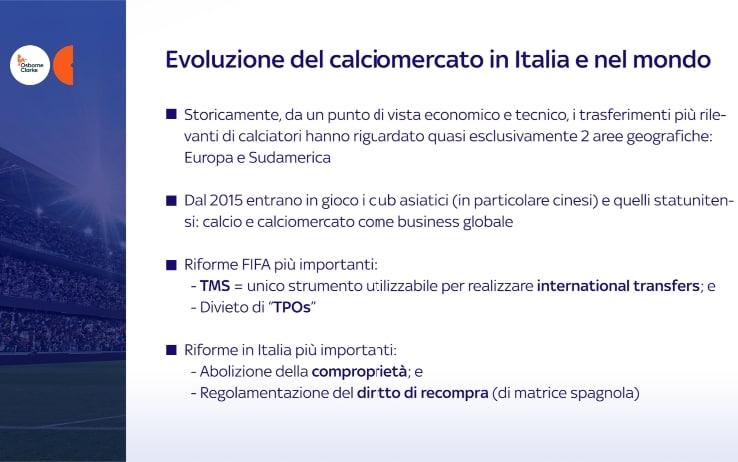 Evoluzione mercato Italia