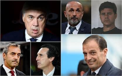 Da Ancelotti a Emery: gli allenatori disponibili