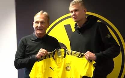 Borussia Dortmund, ufficiale l'acquisto di Haaland
