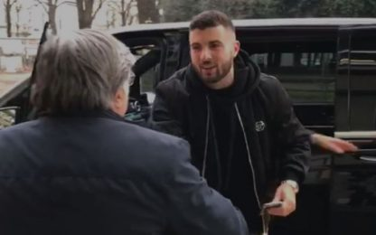 Cutrone, fatta con la Fiorentina: l'arrivo. VIDEO