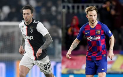 Juve-Barça, in stand-by scambio Berna-Rakitic
